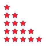 Vijf sterren het schatten Stock Fotografie