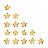 Vijf sterren het schatten Stock Foto's