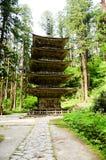Vijf Storied Pagode in MT Haguro, Yamagata, Japan royalty-vrije stock afbeeldingen