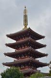 Vijf storied Pagode van Senso -senso-ji Royalty-vrije Stock Foto's