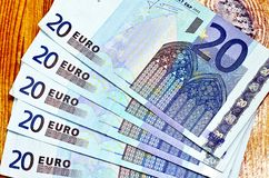 Vijf Twintig euro stock fotografie