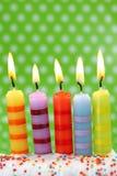 Vijf verjaardagskaarsen Royalty-vrije Stock Afbeelding