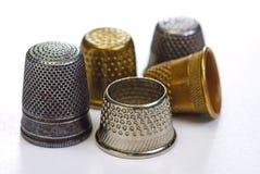 Vijf vingerhoedjes Royalty-vrije Stock Afbeelding