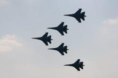 Vijf vliegtuigen Royalty-vrije Stock Foto's