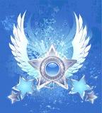 Vijf zilveren sterren royalty-vrije illustratie