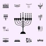 vijfde nacht van Chanoekapictogram Voor Web wordt geplaatst dat en het mobiele algemene begrip van Chanoekapictogrammen stock illustratie