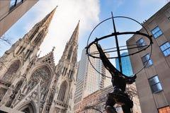 Vijfde Weg in de Stad Manhattan van New York Royalty-vrije Stock Foto's