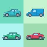 Vijfdeursauto van de de bestelwagen de sportscar sedan van de motorpersonenauto royalty-vrije illustratie