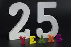 Vijfentwintig jaar Royalty-vrije Stock Afbeelding