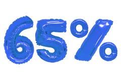 Vijfenzestig percenten van ballons donkerblauwe kleur royalty-vrije stock foto's