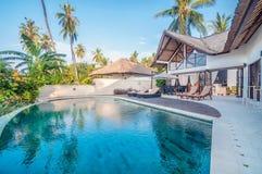 Vijfsterrenvilla Bali Royalty-vrije Stock Foto's