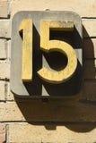 Vijftien royalty-vrije stock afbeelding