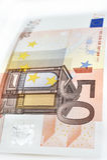 Vijftig die Euro op witte achtergrond wordt geïsoleerd Royalty-vrije Stock Afbeeldingen