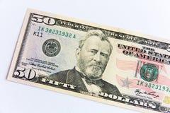 Vijftig dollarrekening Stock Foto