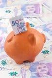 Vijftig Duizend Columbiaanse Peso'srekeningen Royalty-vrije Stock Foto