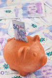 Vijftig Duizend Columbiaanse Peso'srekeningen Royalty-vrije Stock Afbeeldingen