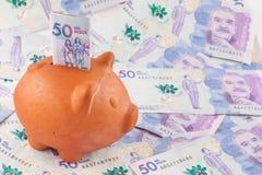 Vijftig Duizend Columbiaanse Peso'srekeningen Royalty-vrije Stock Foto's