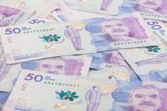 Vijftig Duizend Columbiaanse Peso'srekeningen Stock Fotografie