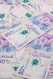 Vijftig Duizend Columbiaanse Peso'srekeningen Stock Afbeeldingen