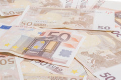 Vijftig Euro Royalty-vrije Stock Afbeelding