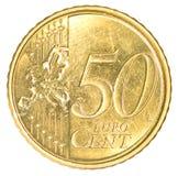 Vijftig eurocentenmuntstuk Royalty-vrije Stock Foto's