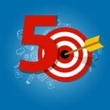 Vijftig jaar doel in bedrijfskalenderlijst van voltooiing royalty-vrije illustratie