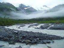 Vijftig mijlen van Whittier Alaska Stock Afbeelding