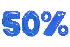 Vijftig percenten van ballons donkerblauwe kleur royalty-vrije stock fotografie
