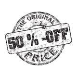 Vijftig percenten weg royalty-vrije illustratie