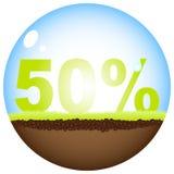 Vijftig percentenkorting vector illustratie