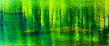 Vijftig Schaduwen van de Groene Bezinning Abstracte Wenatchee Washington van het de Zomerwater Stock Afbeeldingen