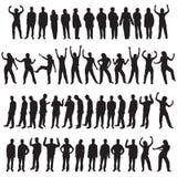 Vijftig verschillende mensen Stock Afbeelding