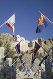 Vijftig vlaggen die van de Staat de gang voeren aan Groot Terras Royalty-vrije Stock Fotografie
