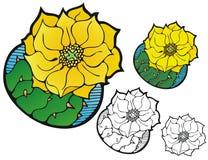 Vijgcactusbloem vector illustratie