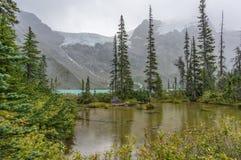 Vijver in Hoger Joffre Lake Stock Foto's