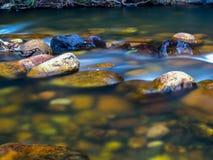 Vijver op een koude rivier royalty-vrije stock afbeeldingen