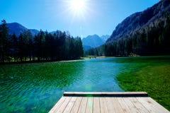 Vijver in Sloveense Alpen Royalty-vrije Stock Foto's