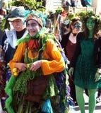 Vijzel het Groene Festival in Hastings, het UK op Stock Foto's