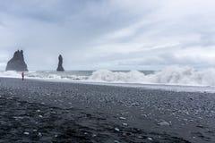 Vik在冰岛 图库摄影