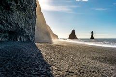 Vik在冰岛 库存照片