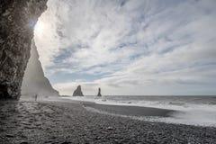 Vik在冰岛 免版税库存图片
