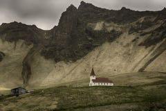 Vik的冰岛教会 库存照片
