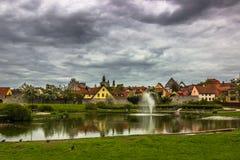 Vik镇在哥得兰岛,瑞典 库存图片