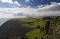 vik Исландии пляжа черное Стоковое Фото