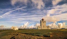 Vik, aumento di vista del fianco di una montagna dell'Islanda Fotografia Stock Libera da Diritti