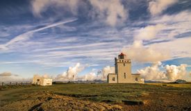 Vik, caminhada da opinião da montanha de Islândia fotografia de stock royalty free