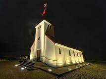 Vik Church Island arkivfoto