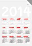 Vik den pappers- kalendern 2014 för hörnet Royaltyfri Foto
