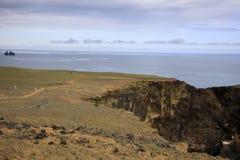 Iceland. Vik / Iceland - August 15, 2017: Dyrholaey promontory sea view, Vik, Iceland, Europe royalty free stock photography