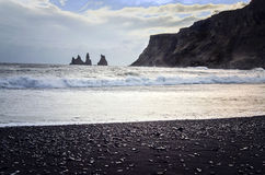 Black Beach Vik Royalty Free Stock Photography